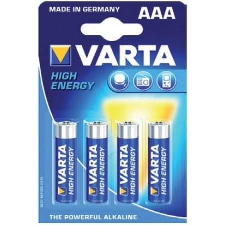 BATTERY VARTA LR03 AAA 1.5V - PACK OF 4