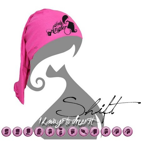 BEANIE HOT SPOT DESIGN SNOOD LADY ANGLER PINK