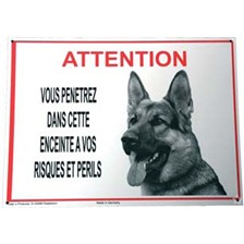 BEWARE OF POLICE DOG SIGN