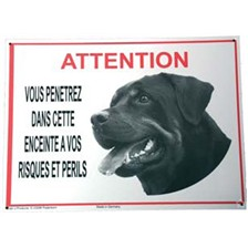 BEWARE OF ROTTWEILER DOG SIGN
