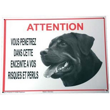 BEWARE OF ROTTWEILER DOG SIGN