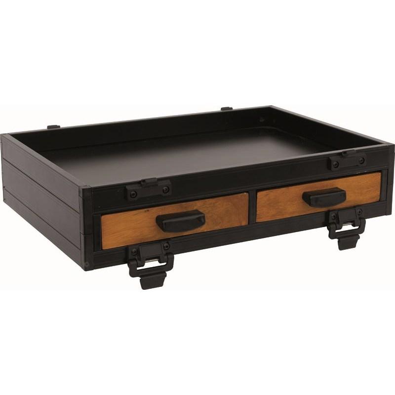 bloc casier 2 tiroirs frontaux bois sensas. Black Bedroom Furniture Sets. Home Design Ideas