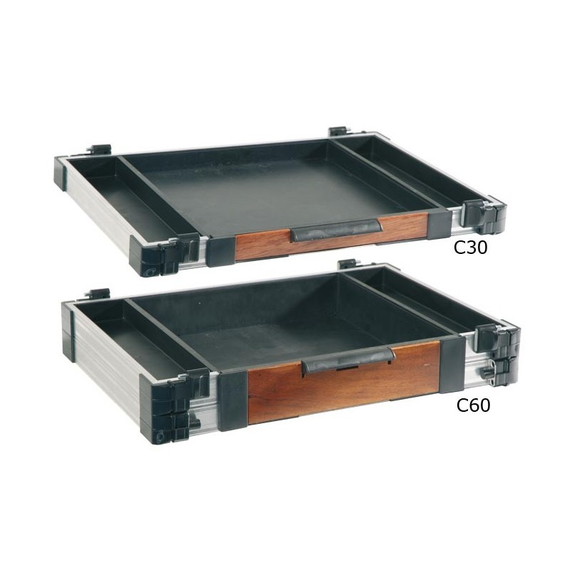bloc tiroir avant avec verrouillage rive alu bois f2. Black Bedroom Furniture Sets. Home Design Ideas