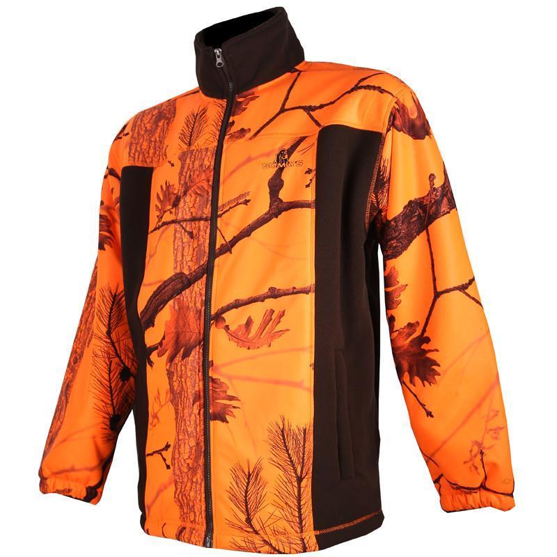 blouson homme polaire somlys 485 camou orange. Black Bedroom Furniture Sets. Home Design Ideas