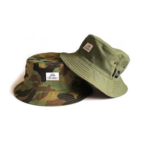 BOB HOMME FORTIS BUCKET HAT REVERSIBLE - OLIVE/CAMO