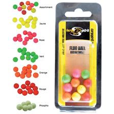 BOILIES FLUTUANTES ARTIFICIAL CARP SPIRIT FLUO BALL - PACK DE 6
