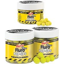 BOILIES FLUTUANTES DYNAMITE BAITS FLURO POP-UPS PINEAPPLE AND BANANA