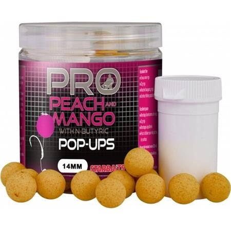 BOILIES GALLEGGIANTI STARBAITS PROBIOTIC PEACH & MANGO POP UP