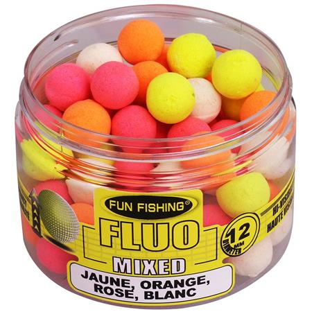 BOILIES  SCHWIMMEND FUN FISHING FLUO POP UPS MIXED