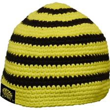 BONNET HOMME BLACK CAT CROCHY - NOIR JAUNE