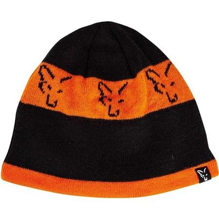 BONNET HOMME FOX BLACK & ORANGE BEANIE - ORANGE/NOIR