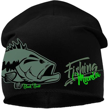 BONNET HOMME HOT SPOT DESIGN BLACK BASS MANIA - NOIR