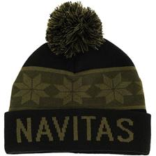 SNOWFLAKE BOBBLE HAT VERT/NOIR NTCA4333