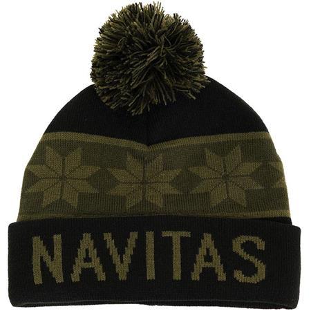 BONNET HOMME NAVITAS SNOWFLAKE BOBBLE HAT - VERT/NOIR