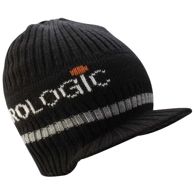 bonnet homme prologic knitted beanie w brim noir. Black Bedroom Furniture Sets. Home Design Ideas