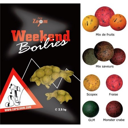 BOUILLETTE CARP ZOOM WEEK-END BOILIES