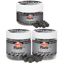 BOUILLETTE FLOTTANTE DYNAMITE BAITS FLURO POP-UPS BLACK BUZZER