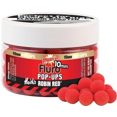 BOUILLETTE FLOTTANTE DYNAMITE BAITS FLURO POP-UPS ROBIN RED