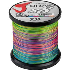 BRAID DAIWA J BRAID X 8 MULTICOLOUR - 1500M