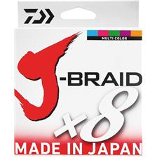 BRAID DAIWA J BRAID X 8 MULTICOLOUR - 150M