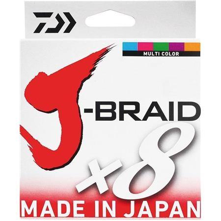 BRAID DAIWA J BRAID X 8 MULTICOLOUR - 150M
