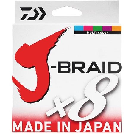 BRAID DAIWA J BRAID X 8 MULTICOLOUR - 300M