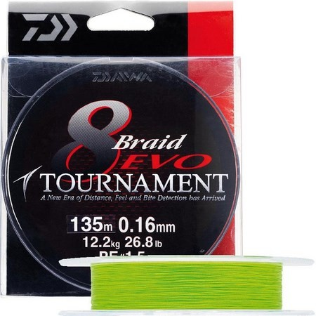 BRAID DAIWA TOURNAMENT 8 BRAID EVO CHARTREUSE - 135M