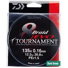 BRAID DAIWA TOURNAMENT 8 BRAID EVO GREEN - 135M