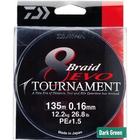 BRAID DAIWA TOURNAMENT 8 BRAID EVO GREEN - 300M