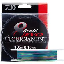 BRAID DAIWA TOURNAMENT 8 BRAID EVO MULTICOLOUR - 300M