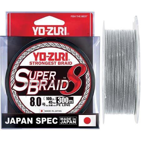 BRAID YO-ZURI SUPERBRAID 8X SILVER - 150M