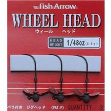 CABEZA PLOMADA FISH ARROW WHEEL HEAD - PAQUETE DE 3