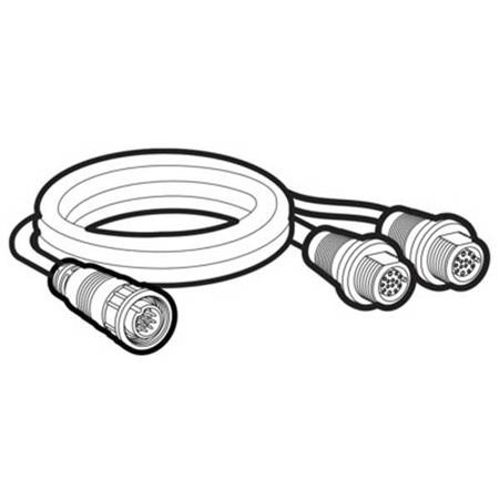 CABLE Y HUMMINBIRD SOLIX POUR INSTALLATION SONDE SI GAUCHE ET DROITE (14MSILRY)
