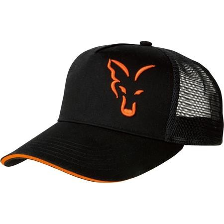 CAP FOX BLACK & ORANGE TRUCKER CAP
