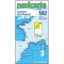 CARTA DI NAVIGAZIONE NAVICARTE CAVALAIRE - ST RAPHAEL