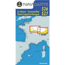 CARTA DI NAVIGAZIONE NAVICARTE LE HAVRE - ST VAAST - LA HOUGE