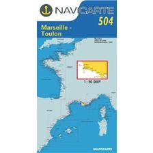 CARTA DI NAVIGAZIONE NAVICARTE MARSEILLE - TOULON - LES CALANQUES