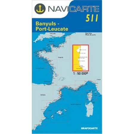 CARTA DI NAVIGAZIONE NAVICARTE PORT VENDRES - BANYULS - PORT LEUCATE