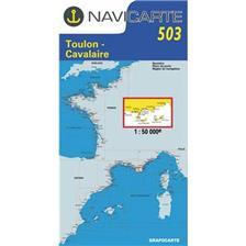 CARTA DI NAVIGAZIONE NAVICARTE TOULON - CAVALAIRE - ILES D'HYERES