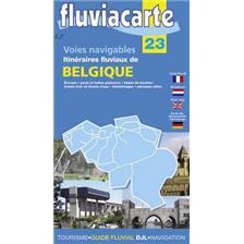 CARTE DE BELGIQUE FLUVIACARTE NAVIGATION FLUVIALE