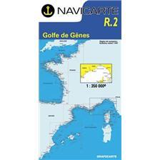 CARTE DE NAVIGATION NAVICARTE GOLFE DE GENES : HYERES A CALVI ET ILE D'ELBE