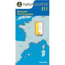 CARTE DE NAVIGATION NAVICARTE PORT VENDRES - BANYULS - PORT LEUCATE