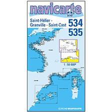 CARTE DE NAVIGATION NAVICARTE ST HELIER - ST CAST