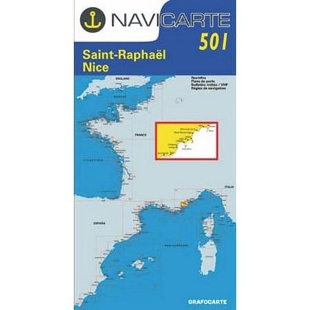 CARTE DE NAVIGATION NAVICARTE ST RAPHAEL - NICE - ILES DE LERINS
