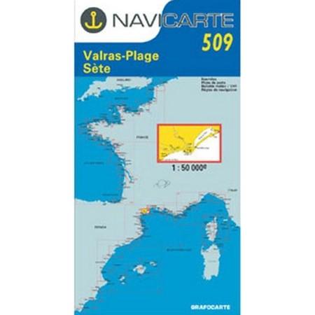 CARTE DE NAVIGATION NAVICARTE VALRAS - SETE - ETANG DE THAU