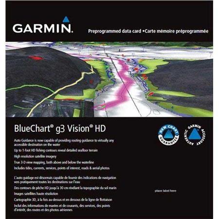 CARTOGRAPHIE GARMIN BLUECHART G3 VISION REGULAR