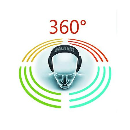 CASQUE AMPLIFICATEUR WALKER'S ULTIMATE POWER MUFF QUADS 360