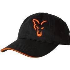 CASQUETTE HOMME FOX BLACK & ORANGE BASEBALL CAP - NOIR