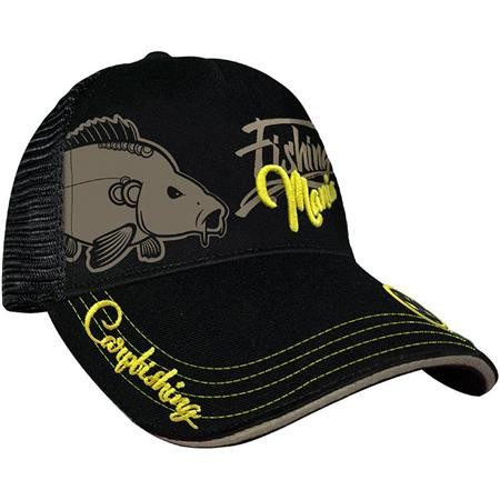 CASQUETTE HOMME HOT SPOT DESIGN CAP CARPFISHING MANIA - NOIR
