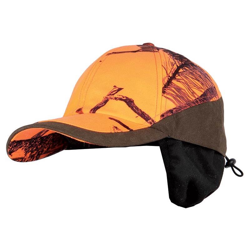 casquette homme somlys 906 c avec cache oreille camou orange. Black Bedroom Furniture Sets. Home Design Ideas